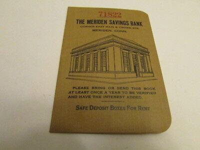 Vintage 1926 Meriden Bank Savings Book