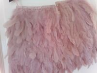Asos pink feather skirt size 10