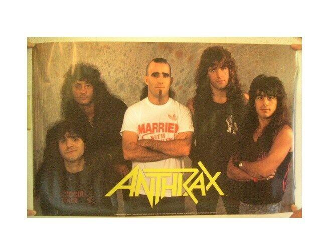 Anthrax Poster Band Shot Vintage Shot