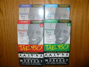 Billy Banks 4 Taebo Workout VHS Videos