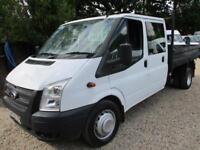 2014 Ford Transit 2.2TDCi 350 LWB Double CAB TIPPER PICK UP 100k genuine NO VAT
