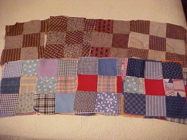 48 Antique 9-Patch Quilt Blocks