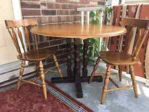 Dining Room Table with 2 chairs