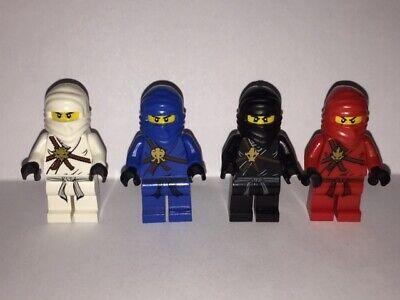 GENUINE - Lego Minifigure - Ninjago - Kai, Jay, Zane & Cole (set of 4)