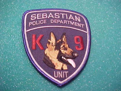 SEBASTIAN FLORIDA K-9 POLICE PATCH SHOULDER SIZE UNUSED