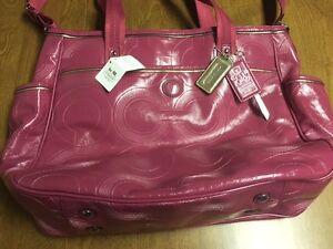 Pink Coach Diaper Bag