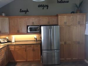 Kitchen Cabinets, Countertop, Sink, Faucet and RO System