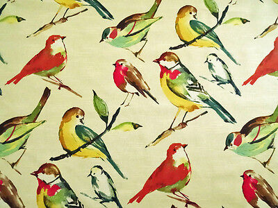 RICHLOOM LISETTE MEADOW BIRD UPHOLSTERY CURTAIN FABRIC 1 YD @ $10.99/YD 653FF FS