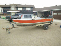 14ft Lund Deep V with 20hp Mercury Motor & Motorguide Electric