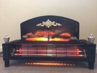 Electric fire - traditional 2 bar with log effect