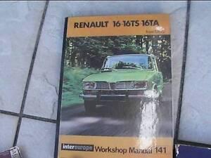 Renault 16 - 16T workshop manual Belmont South Lake Macquarie Area Preview