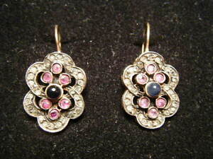 Victorian-Edwardian-Earrings-BY-SIMON-Goldwash-on-Silver-ala-Downton-Abbey