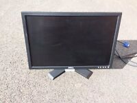 """DELL 20"""" LCD monitor with leads"""