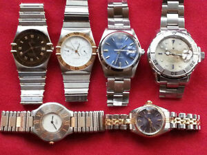 CARTIER, ROLEX, OMEGA---ALL REAL 100% FOR SALE