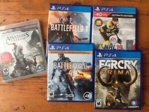 PS4 Games (Battlefield 1 & 4, Farcry Primal, NHL 15)