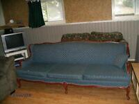 antique 7 foot  couch and chair