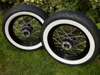 Wanted Front and back white wall tyre for a 650 yamaha drag star...