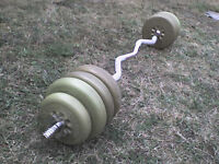 Gold Dumbbell & Barbell Weights - Heathrow