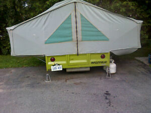 Soft top tent trailer