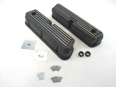 1962-1990 Small Block Ford 5.0L 289 302 Aluminum Valve Covers Black BPE-2202B