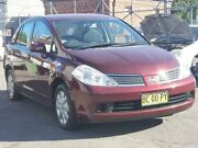 2007 Nissan Tiida C11 MY07 ST Maroon 4 Speed Automatic Sedan Granville Parramatta Area Preview