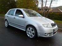 2005 54 Skoda Fabia VRS. Brand New M.O.T. Full History. Excellent performance. PX POSSIBLE