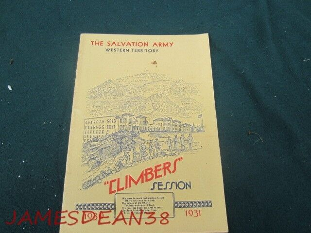 1930 1931 SALVATION ARMY CLIMBERS SESSION COMMISIONING OF CADETS PROGRAM WESTERN