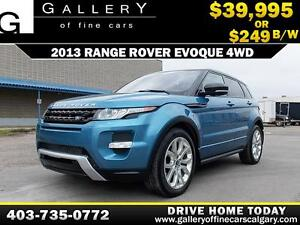 2013 Range Rover Evoque 4WD $249 bIweekly APPLY NOW DRIVE NOW