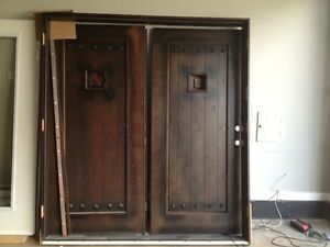 Double exterior door/patio doors + window