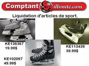 Vous avez besoins de patins à glace , nous en avons en liquidation chez Comptant illimite.com 819-822-7777