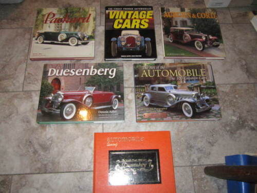 LOT OF 6 HARDBACK BOOKS VINTAGE CARS DUESENBERG AUBURN CORD PACKARD 100 GREATEST