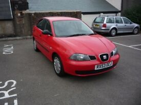 2003 (53) SEAT IBIZA 1390cc 5-DOOR HATCH, NEW MOT, NEW CAMBELT, 3-MONTHS WARRANTY ON PURCHASE