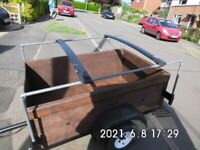 TRAILER 5 FOOT X 3 FOOT X 20 INCHES. IDEAL FOR CAMPING, CAR BOOTS, TIP RUNS ETC.