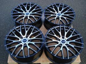 18 VolksWagen VW Jetta Golf GTI MKV Rabbit Passat EOS R32 Black 5x112 Wheel Rims