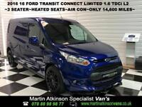 2016 16 Ford Transit Connect 1.6 TDCi 240 L2 Limited 3 Seater 6 Speed Manual