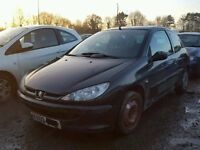 BREAKING PEUGEOT 206 3 DOOR HATCH 1.2 2003 BLACK SPORT