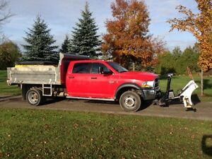 2011 Dodge 5500 HD Crew Cab Dump Truck with plow & salter