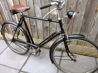 VINTAGE RALEIGH BICYCLE BIKE 1948 COLLECTABLE WITH ORIGINAL RECEIPT AND PAPER WORK RARE OLD BIKE