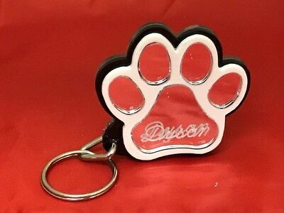 Dog Paw Key Chain Custom Name Engraved Free keychain key ring Name Personalized](Personalized Keys)