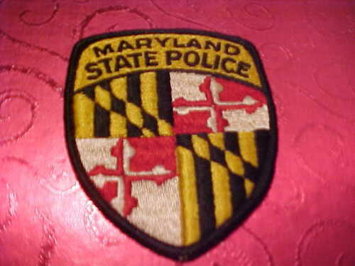 MARYLAND STATE POLICE PATCH SHOULDER SIZE UNUSED  3 3/4 X 3 INCH  ******