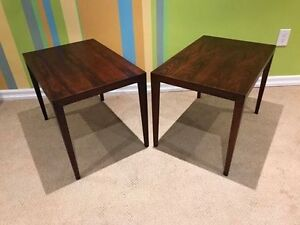 Mid Century Rosewood End Tables by Severin Hansen