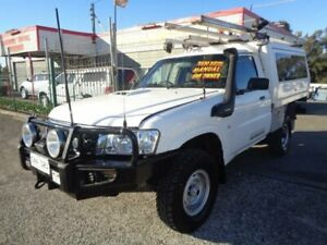 2011 Nissan Patrol MY11 Upgrade DX (4x4) White 5 Speed Manual Leaf Cab Chassis Sandgate Newcastle Area Preview