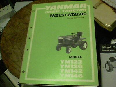 Yanmar Diesel Tractor Parts Catalog Model Ym122 Ym126 Ym142 Ym146