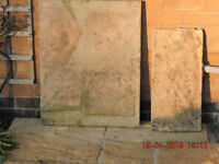Four Concrete Slabs - Two Are 75cmx60cmx5cm, One Is 60cmx29cmx3cm, One Is 60cm by 45cm by 3cm