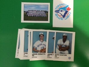 Very Rare 1987 Toronto Blue Jays Baseball Cards Fire Fighter Set