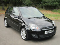 FORD FIESTA 1.25 ZETEC BLUE 5DR A/C / 2008 (58) 88K FSH 8 STAMPS / ONE OWNER!!!!