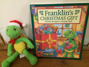 CHRISTMAS FRANKLIN Toy and Book $10