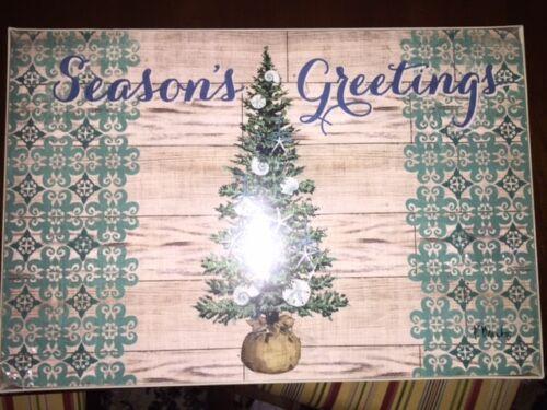 "Coastal Christmas Christmas Tree Placemats - Set of 4  ""NWT"""