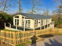 Luxury Lodge for sale,private garden,decking,twin carpark,2 years fees,hastings, not static caravan