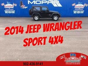 2014 Jeep Wrangler Sport Soft Top 4X4 with Winch and Bumper